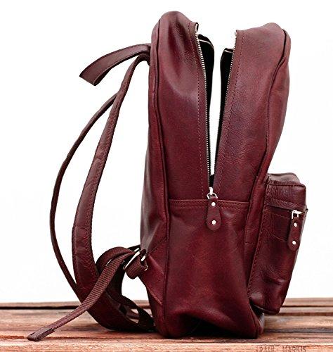 le mariol brun sac dos en cuir style vintage pour cole loisirs paul marius le sac en cuir. Black Bedroom Furniture Sets. Home Design Ideas