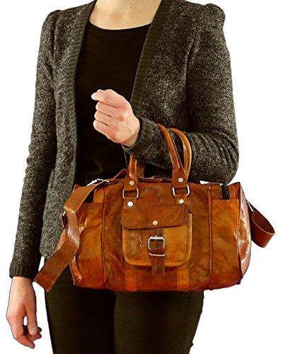 gusti cuir nature harley valise en cuir bagage main bagage cabine sac de sport sac de voyage. Black Bedroom Furniture Sets. Home Design Ideas