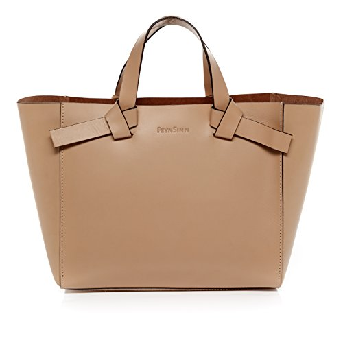 feynsinn sac main elin porte monnaie main sac des dames style tote bag beige en cuir. Black Bedroom Furniture Sets. Home Design Ideas