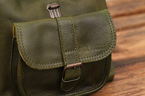 paul marius petit sac dos en cuir couleur vert olive style vintage le baroudeur le sac en cuir. Black Bedroom Furniture Sets. Home Design Ideas